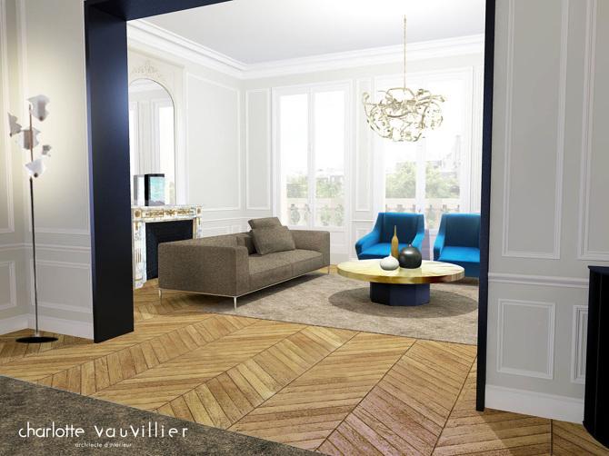 parc monceau charlotte vauvillier architecte d 39 int rieur. Black Bedroom Furniture Sets. Home Design Ideas